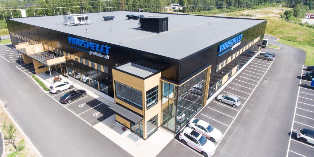 Kontorslokal med stort lunchrum, 510 kvm. Egen ingång i markplan i nybyggd fastighet.